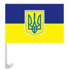 Автофлаг Украины с гербом