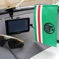 Прапор Ічкерії автомобільний прапорець (чорний символ)