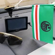 Флаг Ичкерии автомобильный флажок (черный символ)