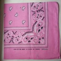 Бандана классический рисунок св. розовая