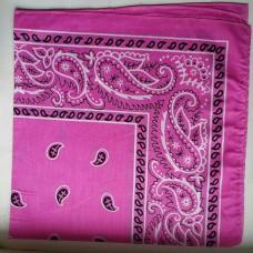 Бандана классический рисунок узора розовый