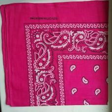 Бандана классический узор розовая