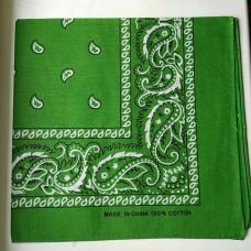Бандана классическая зеленая