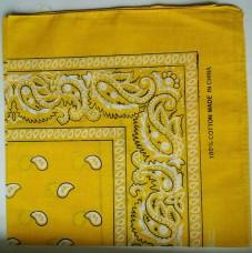 Бандана классический рисунок желтая