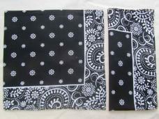 Бандана классика черная цветы