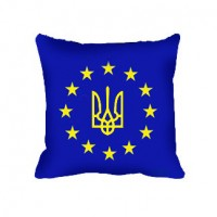 Декоративна подушка Євросоюз Україна