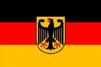Прапор Німеччини з гербом