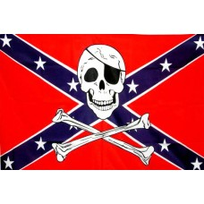 Настільний прапорець Конфедерації з черепом