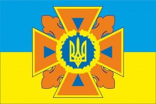 Купить ДСНС України флажок настольний в интернет-магазине Каптерка в Киеве и Украине
