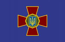 Настільний прапорець НГУ (синій, крест)