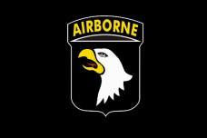 Флаг 101 десантной дивизии США (черный)