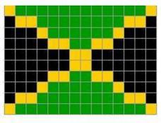 "Флаг Ямайки ""пиксель"""