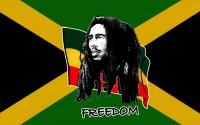 Флаг Боб Марли FREEDOM