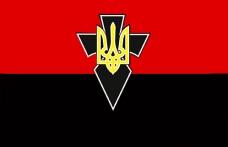 Червоно-чорний прапор з знаком УПА