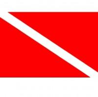 Дайверский флаг - настольный флажок