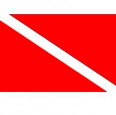 Купить Дайверский флаг - настольный флажок в интернет-магазине Каптерка в Киеве и Украине
