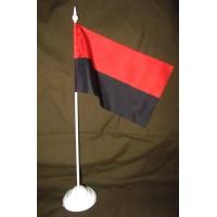 Червоно-чорний настільний прапорець