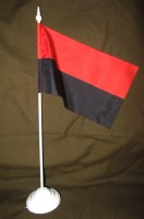 Красно-черный флаг настольный флажок