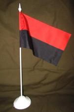 Купить Красно-черный флаг настольный флажок в интернет-магазине Каптерка в Киеве и Украине