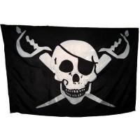 Флаг с черепом и саблями