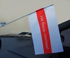 Автомобильный флажок Не Быць Скотам