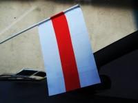 Автомобільний прапорець Білорусі біло-червоно-білий