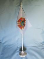 Прапор ДСНС України флажок настольний атлас