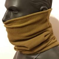 Зимний флисовый шарф-труба 330гм с затяжкой койот. Комфорт холод ***