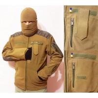 Куртка флисовая 5 карманов с погоном.