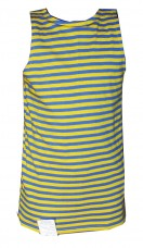 Жовто-блакитна майка тєльняшка