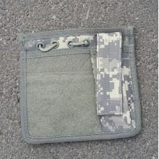 Админпанель на бронежилет или разгрузку с подсумком и веллкро ACU GFC Tactical