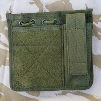 Админ-панель с подсумком и веллкро на бронежилет или разгрузку олива GFC Tactical