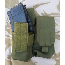 Подсумок двойной для магазинов цвет олива GFC Tactical