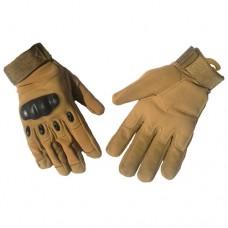 Тактичні рукавиці з захистом кісточок Койот