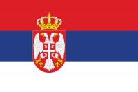Прапор Сербії з гербом