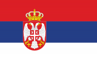 Флаг Сербии с гербом