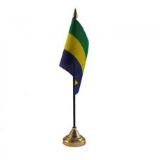 Габон настільний прапорець