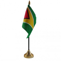 Гаяна настільний прапорець