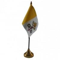 Ватикан настольный флажок