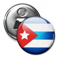 Открывашка с магнитиком Флаг Кубы