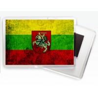 Магнитик флаг Литвы с гербом