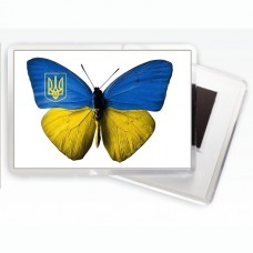 Купить Магнит Бабочка Украина в интернет-магазине Каптерка в Киеве и Украине