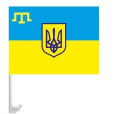 Купить Автофлаг Украина - крымскотатарский в интернет-магазине Каптерка в Киеве и Украине