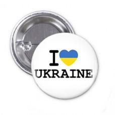Значок I Love Ukraine
