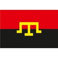 Червоно-чорний прапор з тамгою