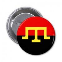 Значок крымских татар на красно-черном