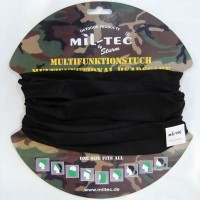 Черная бандана-балаклава-шарф-труба Mil-Tec
