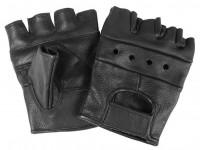 Перчатки без пальцев кожанные Байкер MIL-TEC