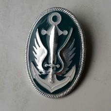 Кокарда Морська Піхота України (Срібна)