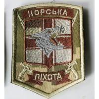 Шеврон Морської Піхоти пиксель вовк